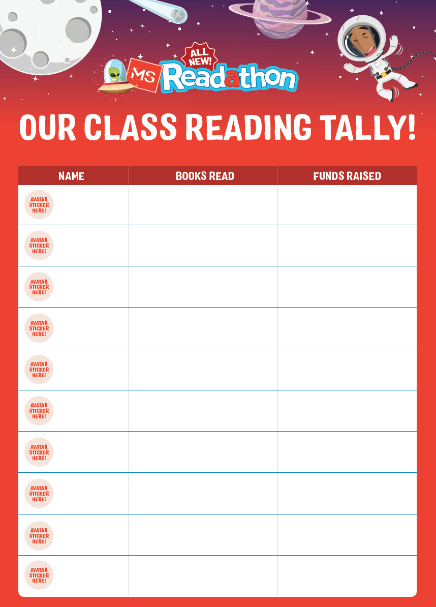 Class Reading Tally