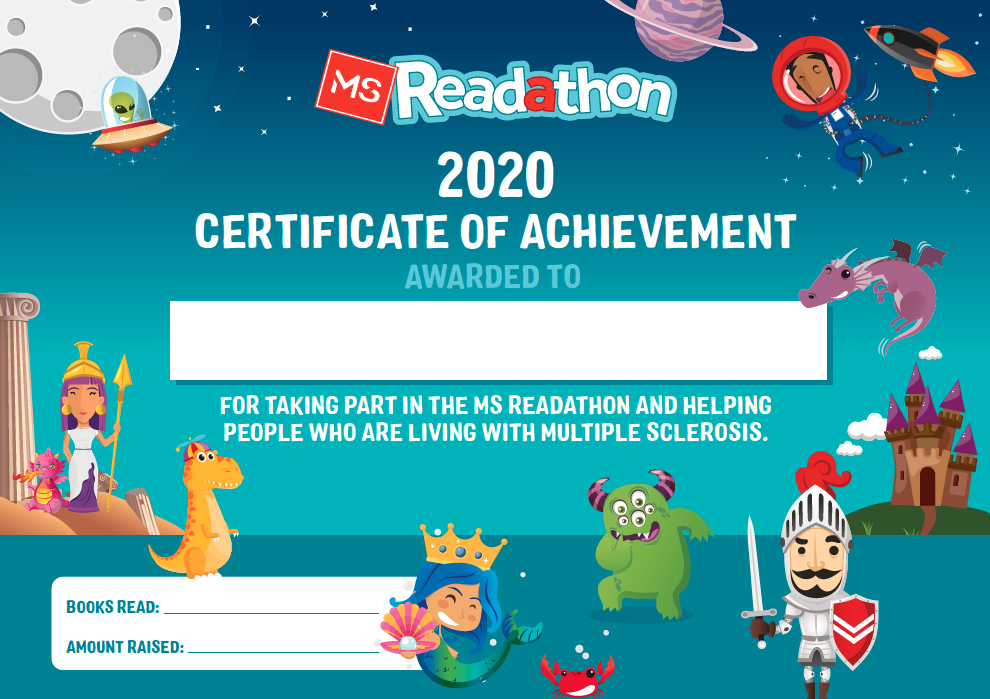 MS Readathon School Participation Certificate