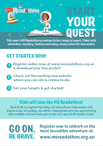 MS Readathon poster