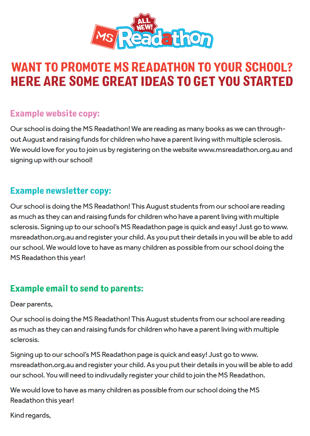 School Newsletter Examples